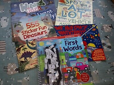 bundle 5 activity reading books dinosuar stickers first words national trust