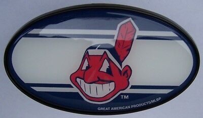 "Trailer Hitch Cover MLB Baseball Cleveland Indians NEW 2"" recexiver"