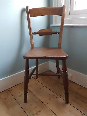 Three antique early farmhouse chairs