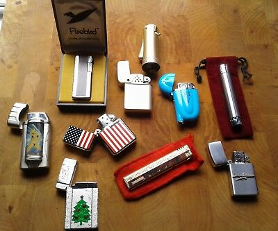 Mixed Lot of 10 Penguin, Storm Master, Colibri, Lighters