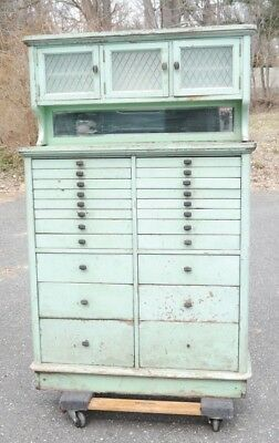 Antique Multi Drawer Dental Cabinet GREAT FOR ARTISTS & CRAFTERS Shabby Chic!!
