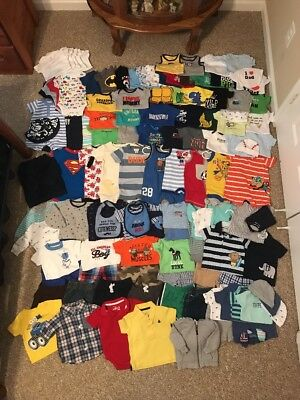 Huge Lot Of 119 Pieces Baby Boy Clothes Size 0-3 3 Months Carter's And More!
