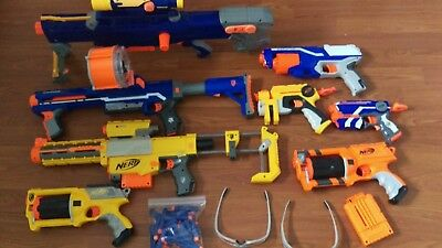 big lot of Nerf gun dart guns Disrupter, Rampage, Recon, long shot &