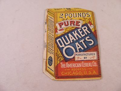 Antique Advertising Trade Card Pure Quaker Oats Fold Out Path American Cereal Co