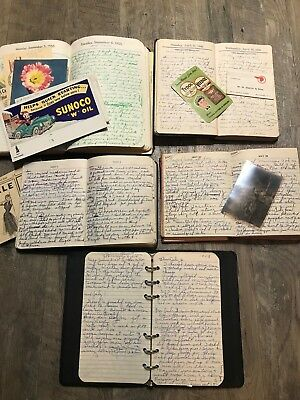 1946-55 Handwritten Diaries Mother & Daughter Wiestner Red Creek Victory NY