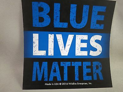 Lot of 10 blue lives matter sticker police black line law enforcement trump us