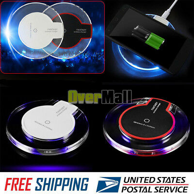 Clear Qi Wireless Fast Charger Charging Pad Samsung Galaxy Note 9 S8/ S8+S7/Edge