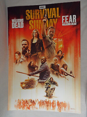 AMC Survival Sunday Official Poster The Walking Dead and Fear TWD April 15 2018