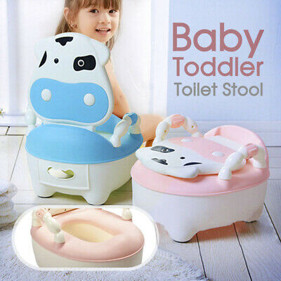 Safety Kids Baby Toddler Toilet Training Potty Trainer Cute Cartoon Seat Chair