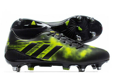 adidas Mens adizero Malice Soft Ground Rugby Boots Sports Shoes Studs Black