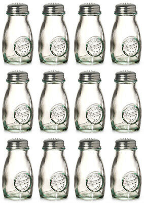 100% Recycled Small Glass Spice Storage Jars Herb Screw Top Unfilled Kitchen Set