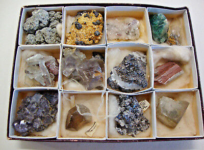 Early 20th century boxed set of semi precious stones from the lake district
