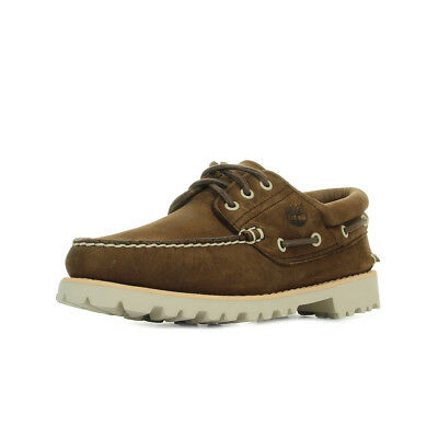 Chaussures Bateaux Timberland homme Chilmark 3-Eye Marron taille Cuir Lacets