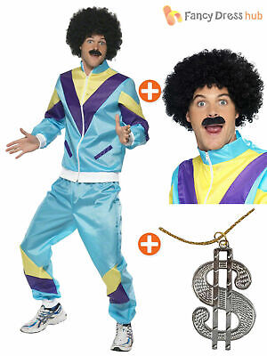 Retro Funny 80s 90s Shell Suit Tracksuit Shellsuit Mens Fancy Dress Costume