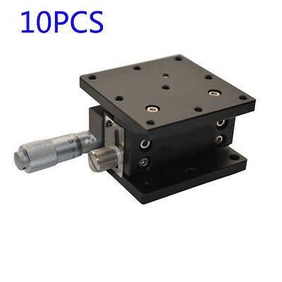 10pcs Z-Axis Trimming Platform Manual Linear Stage Bearing Tuning Sliding table