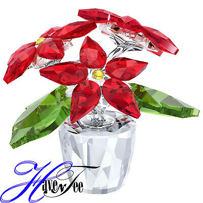 Poinsettia Small - Holiday Plant 2017 Christmas Xmas Swarovski Crystal #5291023