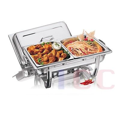 1 LARGE twin chafing dish chaffing warmer tray buffet party 8.5L catering dual