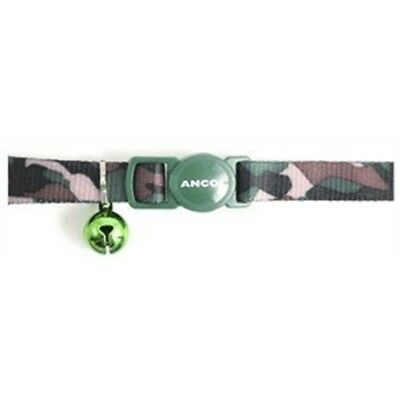 Safety Buckle Cat Collar Camoflage Green - Ancol Camouflage Bell Collars Kitten