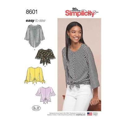 Womens Easy to Sew Pullover Tops   Simplicity Sewing Pattern 8601