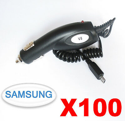 100 Chargeur micro USB voiture allume cigare Samsung Galaxy Huawei Honor Xperia