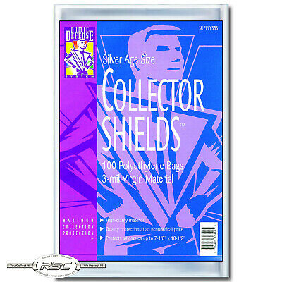 100 - Comic Defense System Silver Age Collector Shields 3-Mil Polyethylene Bags