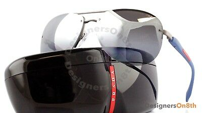 dc16cc92294 New Authentic PRADA Sport SPS 56M DG1 Gunmetal Rubber Polarized Sunglasses