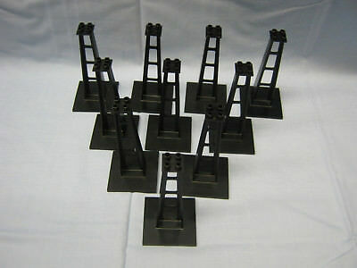 Lego Train 4 x Black Support Stanchion 6 x 6 x 10 Studs Monorail 2681