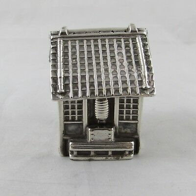 Unusual Antique / Vintage Japanese Sterling Silver Novelty House Pepper Pot