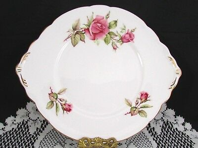Royal Stafford First Love Pink Roses Cake Serving Plate