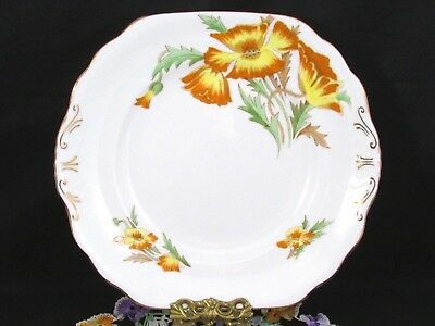 Royal Chelsea Lake Louise Poppy Orange Enamel Cake Serving Plate