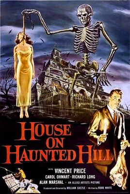 HOUSE ON HAUNTED HILL MOVIE POSTER, Size 24x36