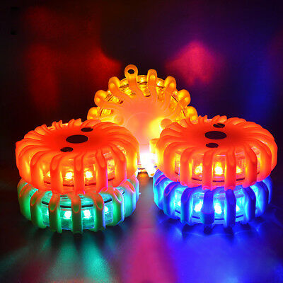 Rechargeable LED Road Flares Flashing Warning Roadside Safety Light for Car SOS