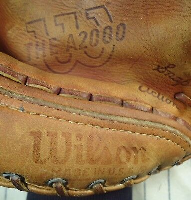 """1967 one year style Wilson A2000 USA top line baseball glove RH 11"""" w/patch"""