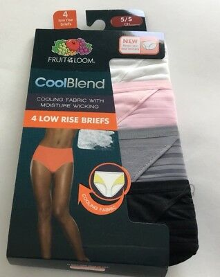 47900ec97ce8 LADIES FRUIT OF The Loom CoolBlend Low Rise Briefs ; Pack Size 5 S ...