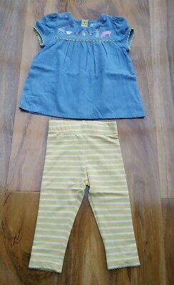 4432de178f8ca Mini Boden Baby Girls Fab PlaySet with Leggings. Size 6-12 Months. Brand