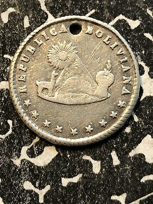 1851 Bolivia Proclamation Coinage Medal 1 Sol Silver! Lot#P017 BRN#37.2