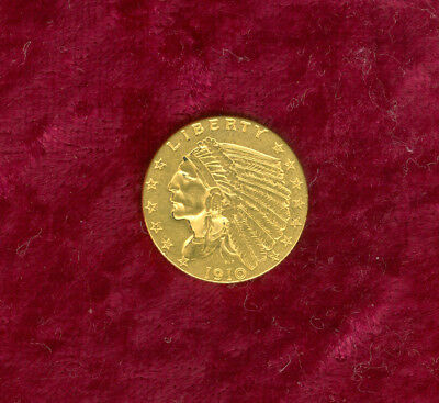 1910 $2.50 Gold in Extra Fine