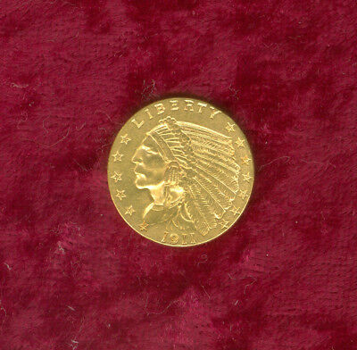 1911 $2.50 Gold in Almost Uncirculated