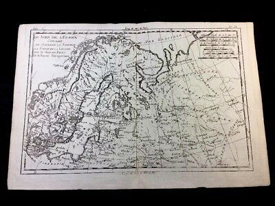 Antique Northern Europe Map 1783