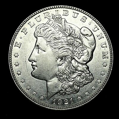 1921 D ~**ABOUT UNCIRCULATED AU**~ Silver Morgan Dollar Rare US Old Coin! #X74