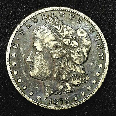 1878 P ~**1ST YEAR ISSUE**~ Silver Morgan Dollar Rare US Old Antique Coin! #622