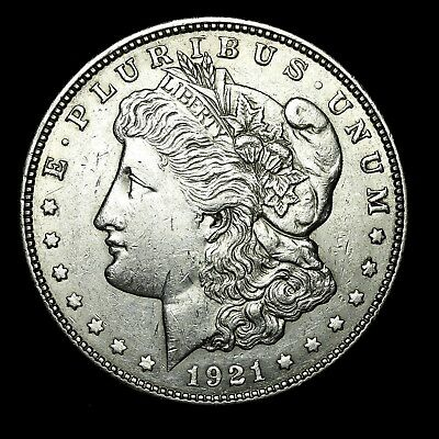 1921 D ~**ABOUT UNCIRCULATED AU**~ Silver Morgan Dollar Rare US Old Coin! #929