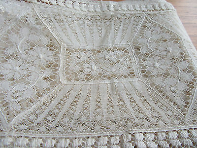 Vintage Elaborate Fine Lace Trim Edging 150 Inches Long 5 In Wide 380 by 12.5 CM