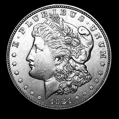 1921 D ~**ABOUT UNCIRCULATED AU**~ Silver Morgan Dollar Rare US Old Coin! #679