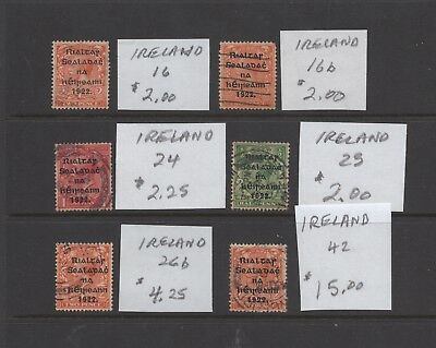 Ireland, group of very old stamps  (1962)