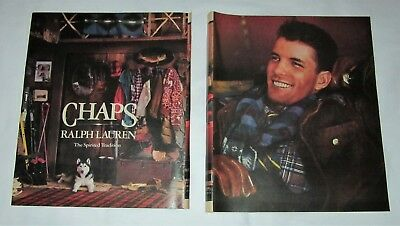 Chaps clothing by Ralph Lauren 1989 vintage full page magazine advertisement ad