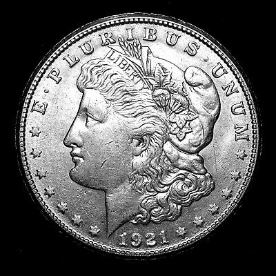 1921 S ~**ABOUT UNCIRCULATED AU**~ Silver Morgan Dollar Rare US Old Coin! #911