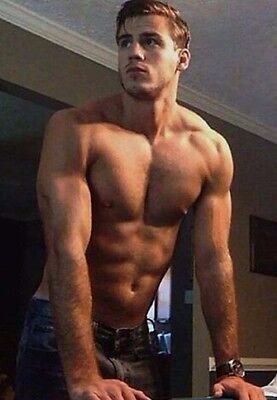 Shirtless Male Muscular Beefcake Handsome Muscle Physique Dude  PHOTO 4X6 D372