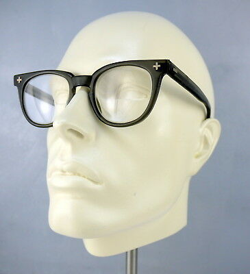 Vintage 70s Safety Glasses Translucent Dark Green Grey AIRCO  4 1/4-5 1/2