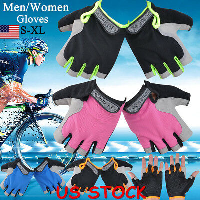USA Non-Slip Half-finger Gel Gloves for Women & Men's Outdoor Sports Fingerless